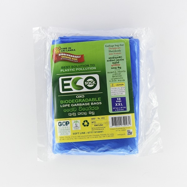 Eco Sack Garbage Bag Ldpe Oxobio M 10s - in Sri Lanka
