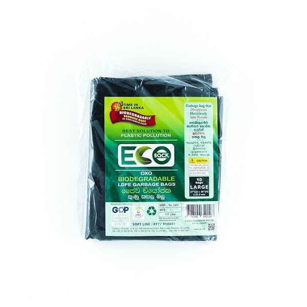 Eco Sack Garbage Bag Ldpe Oxobio L 10s - in Sri Lanka
