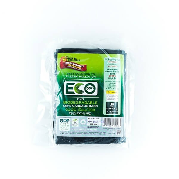 Eco Sack Garbage Bag Ldpe Oxobio Xl 10s - in Sri Lanka