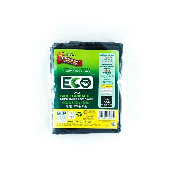 Eco Sack Garbage Bag Ldpe Oxobio Blk Xxl 10 - in Sri Lanka