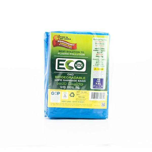 Eco Sack Garbage Bag Ldpe Oxobio Blue Xxl 10 - in Sri Lanka