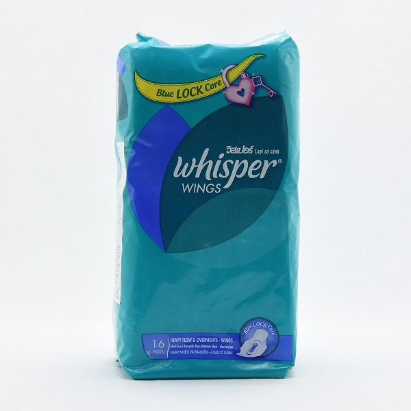 Whisper Sanitary Napkins Heavy Flow Wings 16s - in Sri Lanka