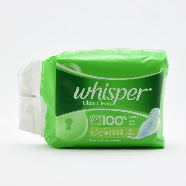 Whisper Sanitary Napkins Ultra Large Wings 8s - in Sri Lanka