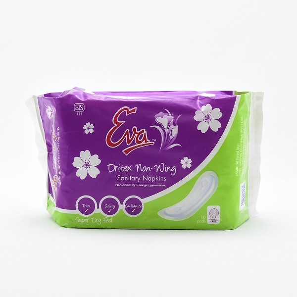 Eva Sanitary Napkins Dritex Non Wings 10s - in Sri Lanka