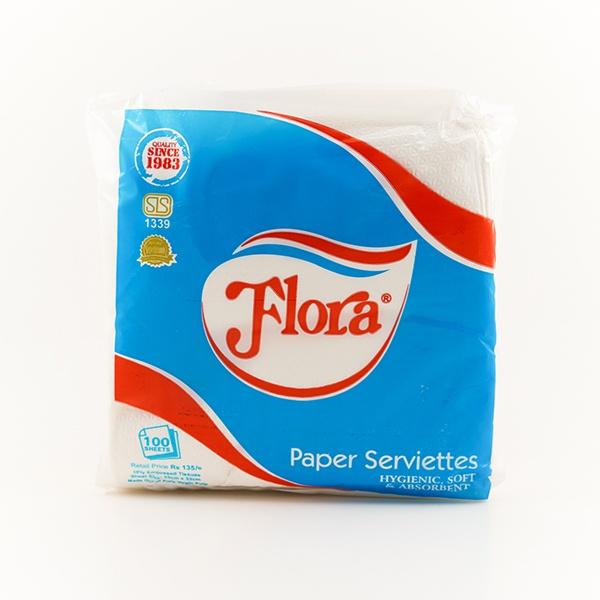 Flora Paper Serviettes 100s - in Sri Lanka