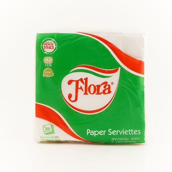 Flora Paper Serviettes 50S - in Sri Lanka