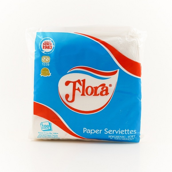 Flora Mini Paper Serviettes 100S - in Sri Lanka