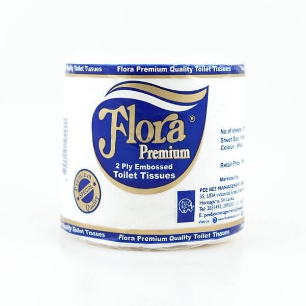 Flora Toilet Roll Embosse 2 Ply - in Sri Lanka