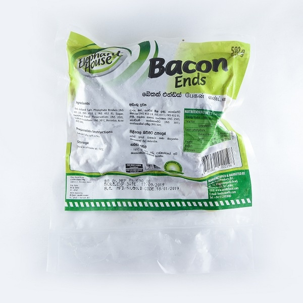 Eh Bacon Ends 500G - EH - Processed / Preserved Meat - in Sri Lanka