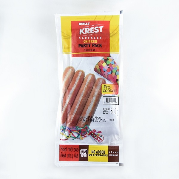 Keells Chicken Sausage Skinless 500g - in Sri Lanka