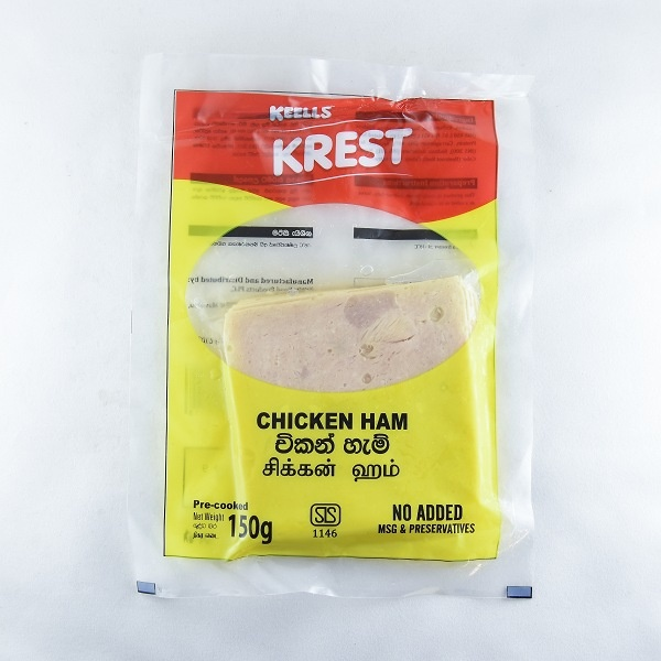 Keells/ Krest Chicken Ham Slices 150g - KEELLS/KREST - Processed / Preserved Meat - in Sri Lanka