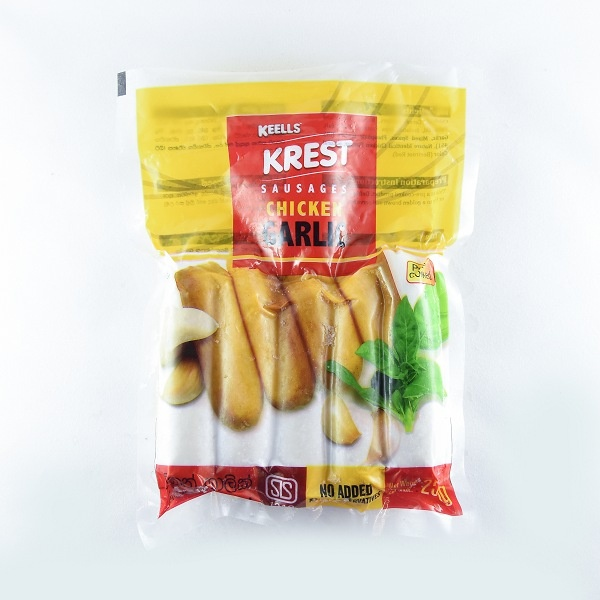 Keells/ Krest Chicken Garlic Sausage 250g - in Sri Lanka