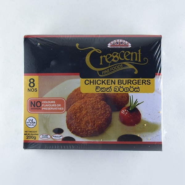 Crescent Chicken Burgers 200g - CRESCENT - Frozen Ready To Cook Snacks - in Sri Lanka