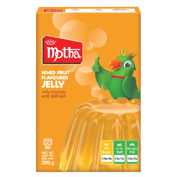 Motha Jelly Mixed Fruit Flavoured 200g - MOTHA - Dessert & Baking - in Sri Lanka