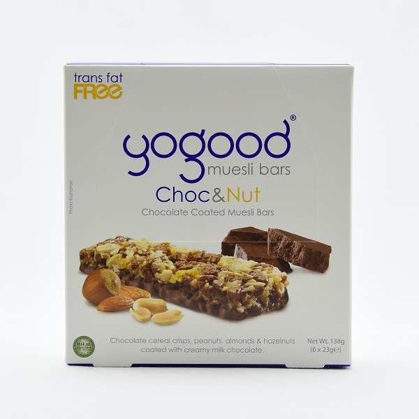 Yogood Chocolate & Nut Cereal Bar Box 138g - in Sri Lanka