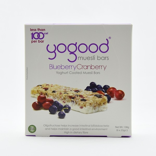 Yogood Blueberry & Cranberry Cereal Bar Box 138g - YOGOOD - Cereals - in Sri Lanka