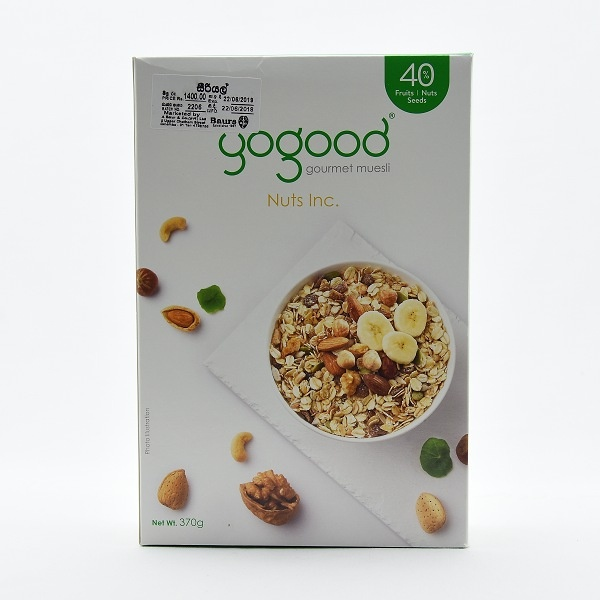 Yogood Nuts Inc. Muesli 370g - in Sri Lanka