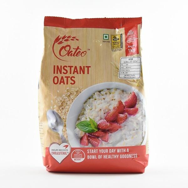 Oateo Instant Oats 1Kg Pouch - OATEO - Cereals - in Sri Lanka