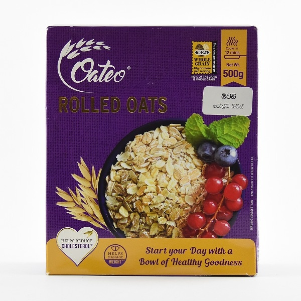 Oateo Rolled Oats 500G - OATEO - Cereals - in Sri Lanka