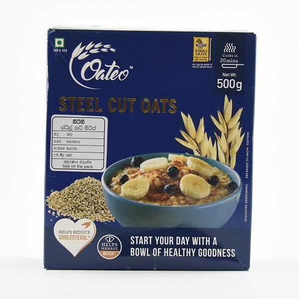 Oateo Steel Cut Oats 500G - OATEO - Cereals - in Sri Lanka