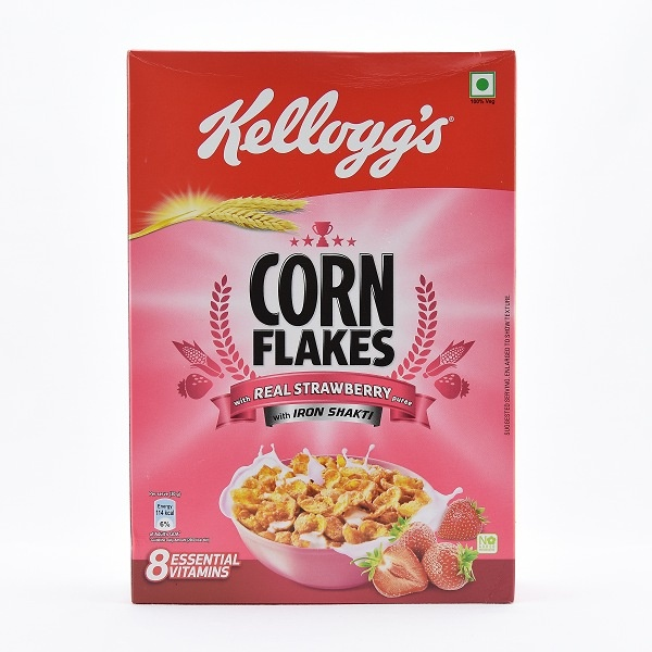 Kelloggs Corn Flakes Strawberry Flavour 275g - KELLOGGS - Cereals - in Sri Lanka