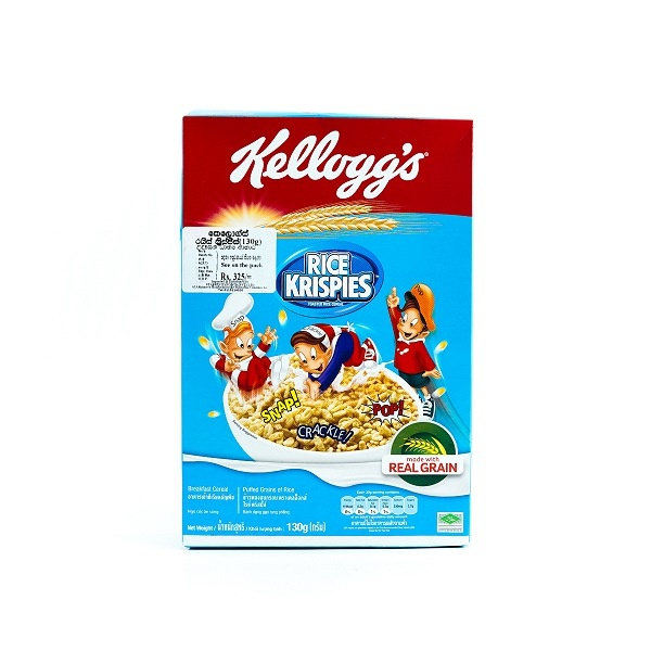 Kelloggs Rice Crispies Cereal 130g - KELLOGGS - Cereals - in Sri Lanka