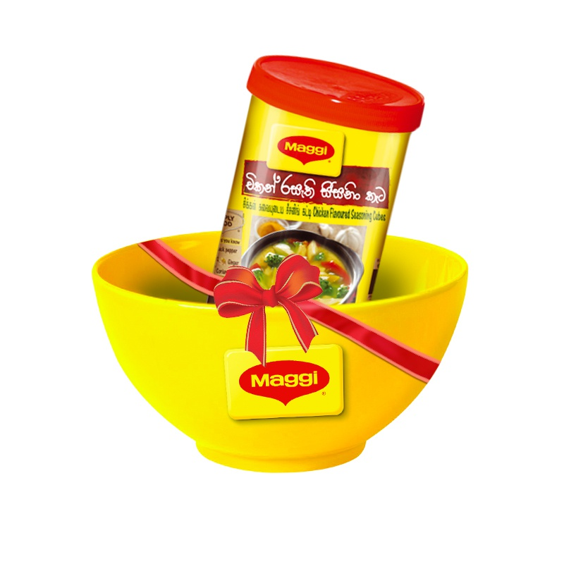 Maggi Chicken Soup Cubes 45g + Ceramic Porridge Bowl - in Sri Lanka