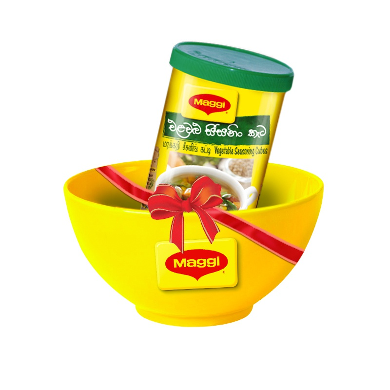 Maggi Vegetable Soup Cubes 45g + Ceramic Porridge Bowl - MAGGI - Soups - in Sri Lanka