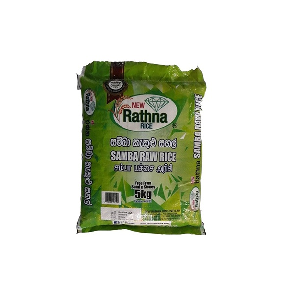 New Rathna Rice Samba Raw 5kg - in Sri Lanka