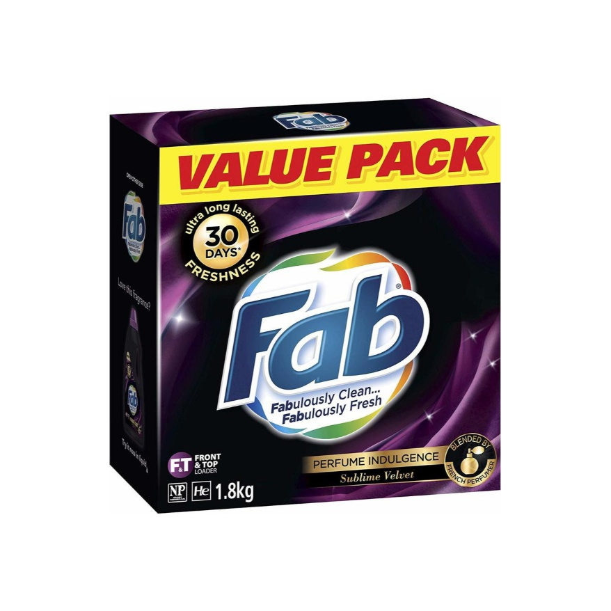 Fab Detergent Powder Sublime Velvet 1.8kg - in Sri Lanka