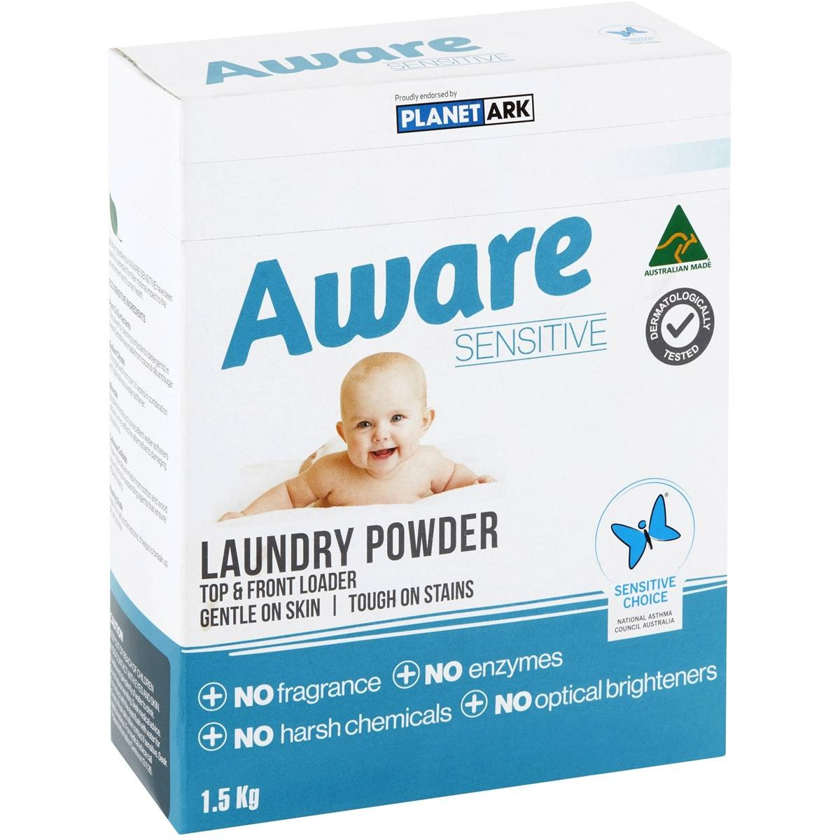 Aware Detergent Powder Sensitive 1.5kg - AWARE - Baby Need - in Sri Lanka