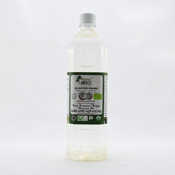 Coconut Miracle Organic Raw Virgin Coconut Oil Pet 1l - in Sri Lanka