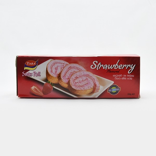 Tiara Swiss Roll Strawberry 200G - TIARA - Confectionary - in Sri Lanka