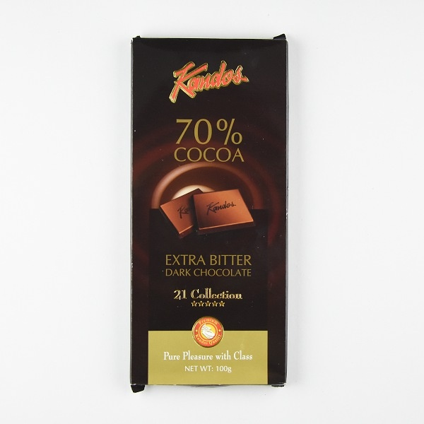 Kandos Chocolate 21' Fivestar Extra Bitter Dark 100g - in Sri Lanka
