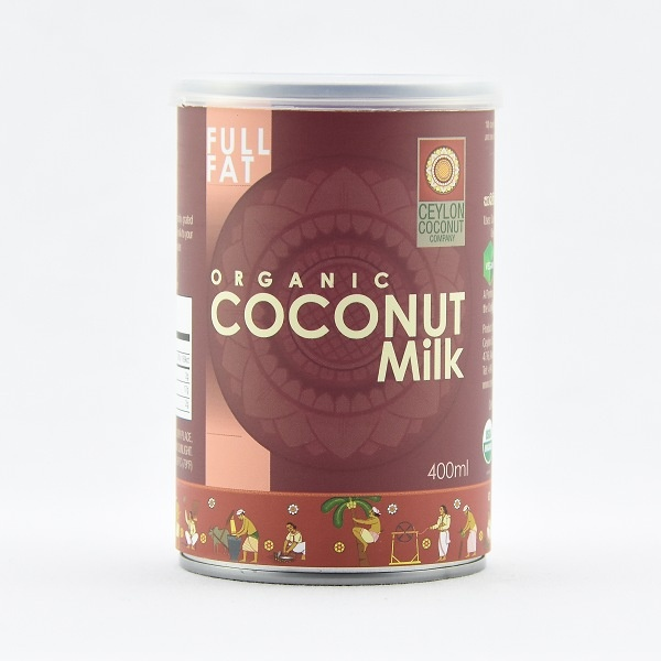 Ceylon Coconut Company Organic Coconut Milk 400ml - CEYLON COCONUT COMPANY - Seasoning - in Sri Lanka