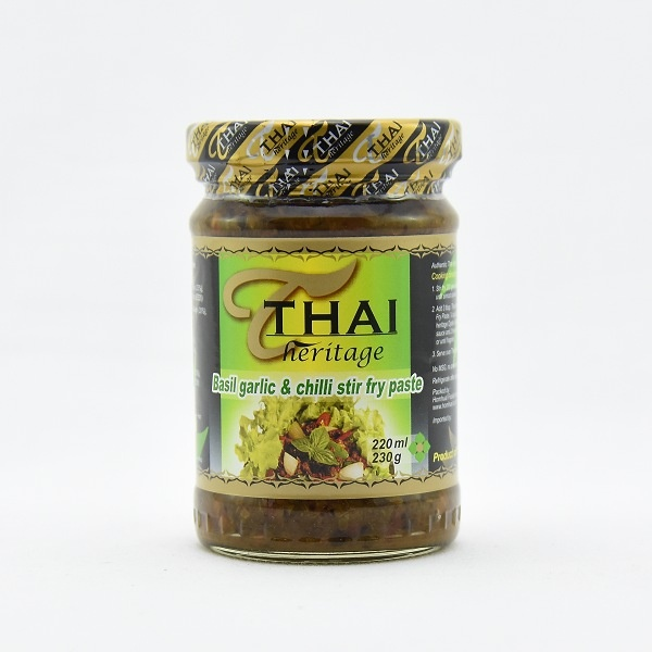 Thai Heritage Basil Garlic Stir Fry Paste 220ml - THAI HERITAGE - Seasoning - in Sri Lanka