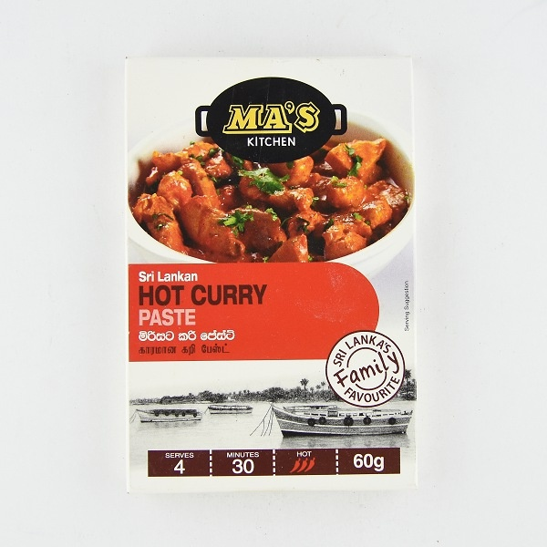 Ma'S Hot Curry Paste 60G - in Sri Lanka