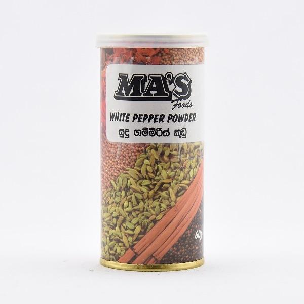 Ma'S White Pepper Powder 60G - in Sri Lanka