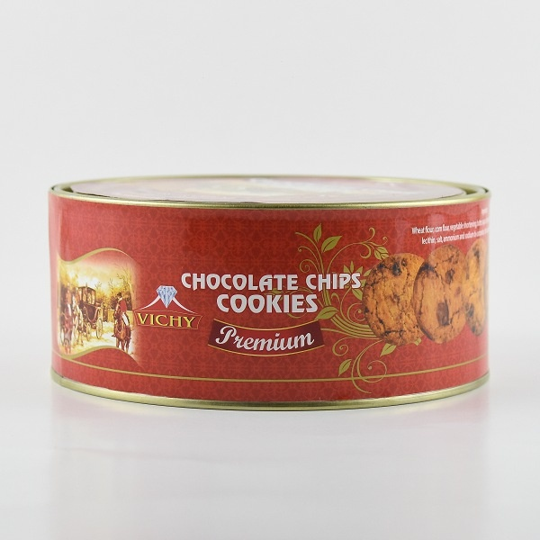 Vichy Biscuit Chocolate Chips Cookies Tin 400g - VICHY - Biscuits - in Sri Lanka