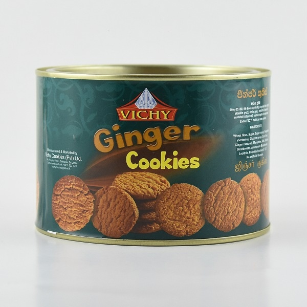 Vichy Biscuit Ginger Cookies Tin 240g - in Sri Lanka