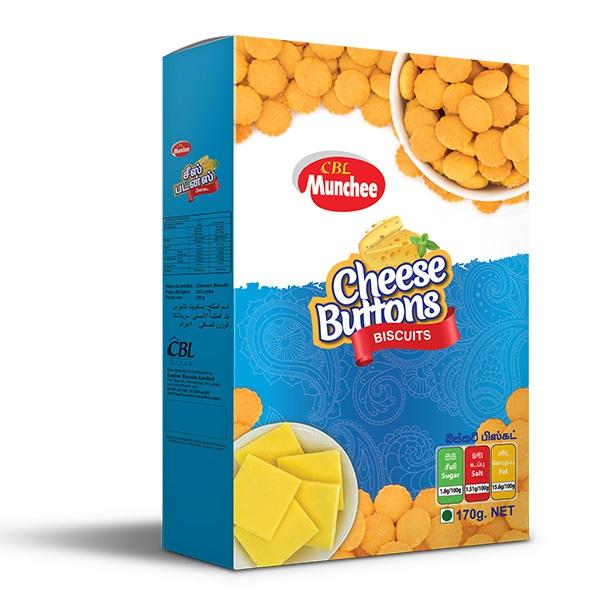 Munchee Biscuit Cheese Button 170g - MUNCHEE - Biscuits - in Sri Lanka