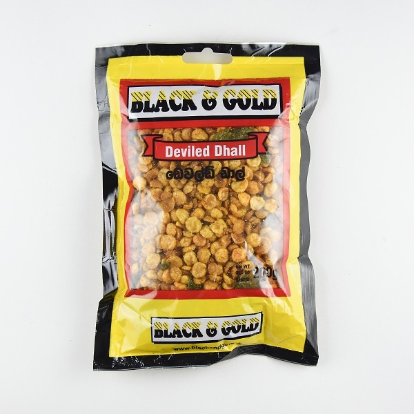 Black & Gold Devilled Dhal 200G - BLACK & GOLD - Snacks - in Sri Lanka