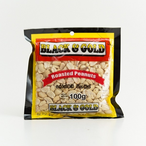 Black & Gold Roasted Peanut 100G - BLACK & GOLD - Snacks - in Sri Lanka