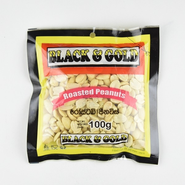 Black & Gold Salted Peanut 100G - BLACK & GOLD - Snacks - in Sri Lanka