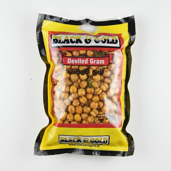 Black & Gold Devilled Gram 200G - BLACK & GOLD - Snacks - in Sri Lanka