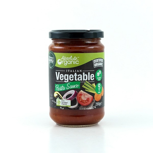 Absolute Organic Pasta Sauce Vegetable 290g - in Sri Lanka