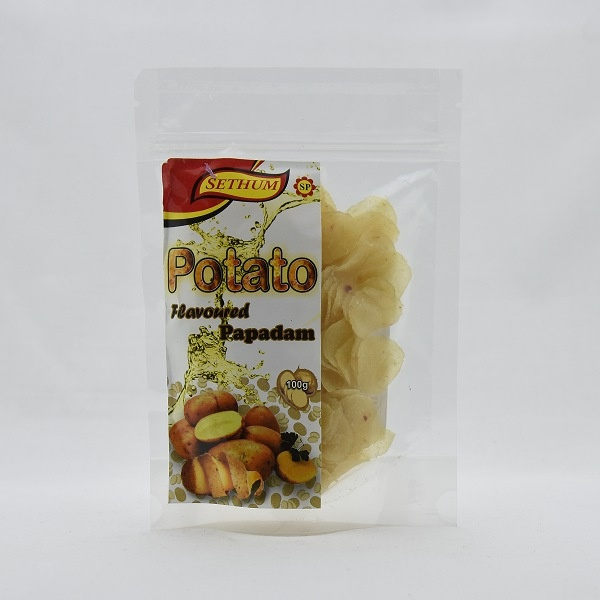 Sethum Potato Flavoured Papadam 100g - in Sri Lanka