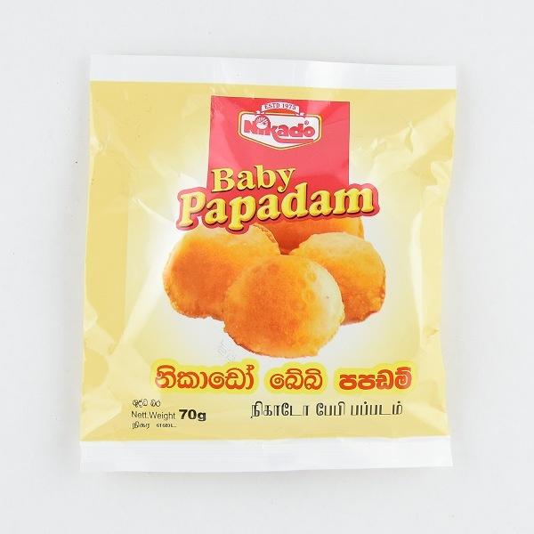 Nikado Baby Papadam 70G - in Sri Lanka