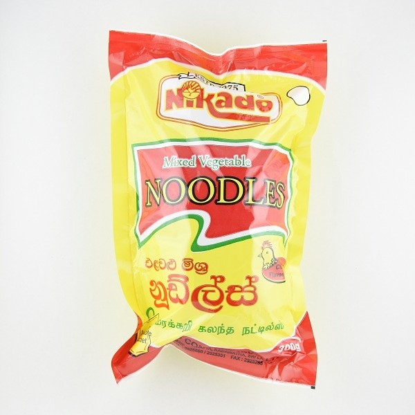 Nikado Vegetable Mixed Chicken Dry Noodles 300g - in Sri Lanka