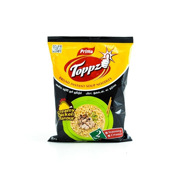 Prima Noodles Toppz Creamy Chicken 87g - in Sri Lanka